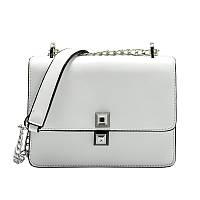 Стильная женская сумка на плечо FENDI Kan I белого цвета