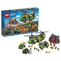 Конструктор LEGO серия City Грузовой Вертолёт Исследователей Вулканов 60125