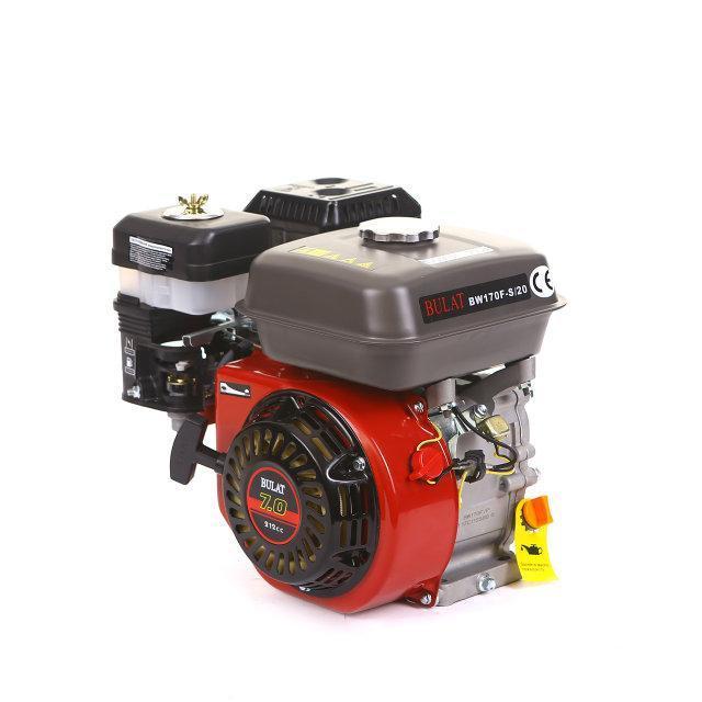 Двигатель бензиновый BULAT BW170F-S(шпонка, вал 20 мм, 7.5 л.с.) (Weima 170)