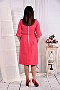 Женское платье на каждый день 0569 цвет малина размер 42-74 / больших размеров , фото 3