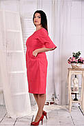 Женское платье на каждый день 0569 цвет малина размер 42-74 / больших размеров , фото 2