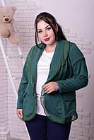 Стильный женский пиджак в больших размерах у-202520