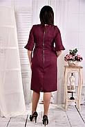 Женское платье на каждый день 0569 цвет бордо размер 42-74 / больших размеров , фото 4