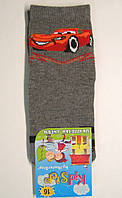 """Мальчиковые носки с машинкой """"Маквин"""" темно-серого цвета, фото 1"""