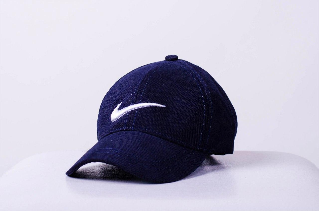 Кепка бейсболка Nike, синяя, нашивка белая по центрум, фото 1