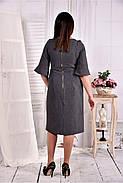 Женское платье на каждый день 0569 цвет серый размер 42-74 / больших размеров , фото 4