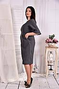 Женское платье на каждый день 0569 цвет серый размер 42-74 / больших размеров , фото 2