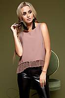 Модная темно-бежевая блузка Мюнхен  Jadone Fashion 42-48 размеры