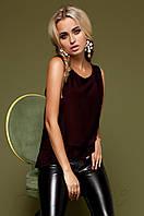 Модная сливовая блузка Мюнхен  Jadone Fashion 42-48 размеры