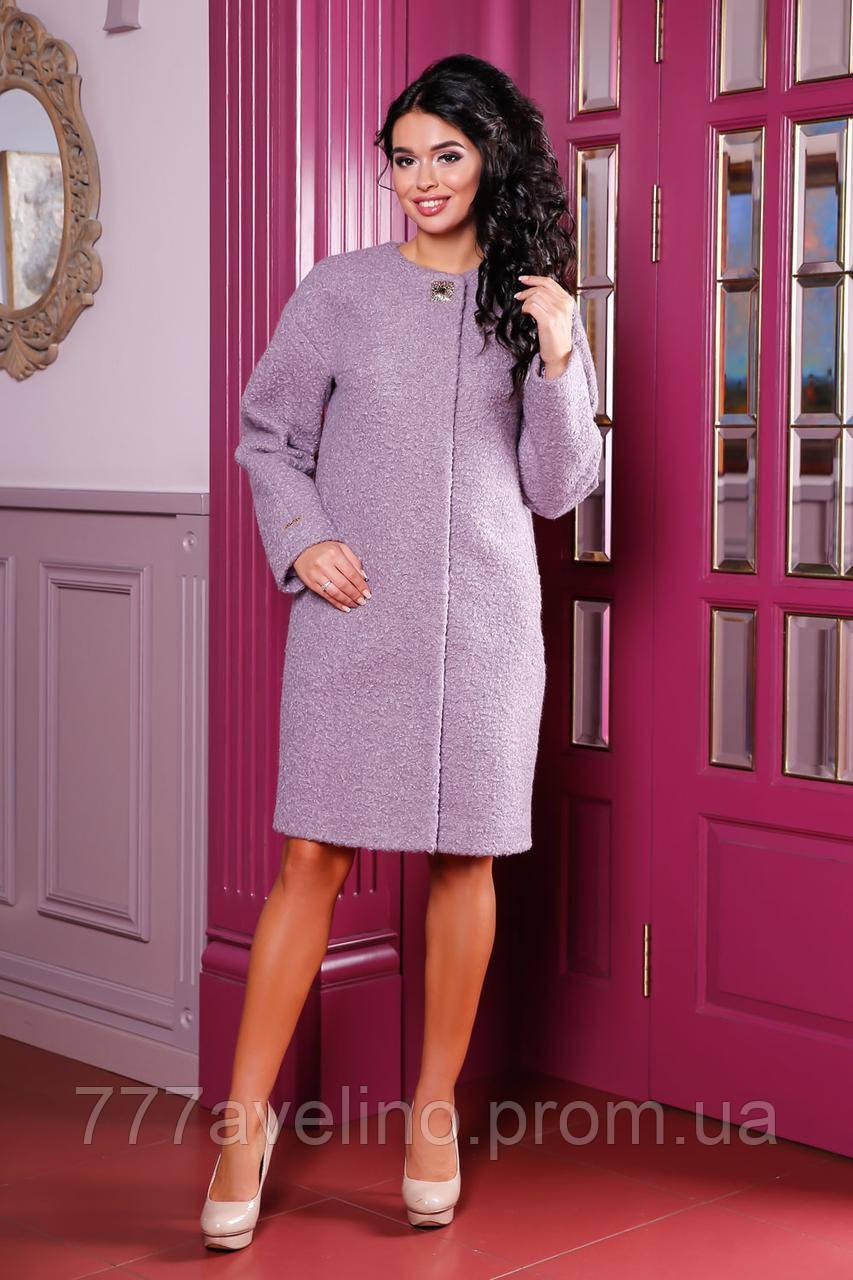 Пальто женское букле стильное большие размеры