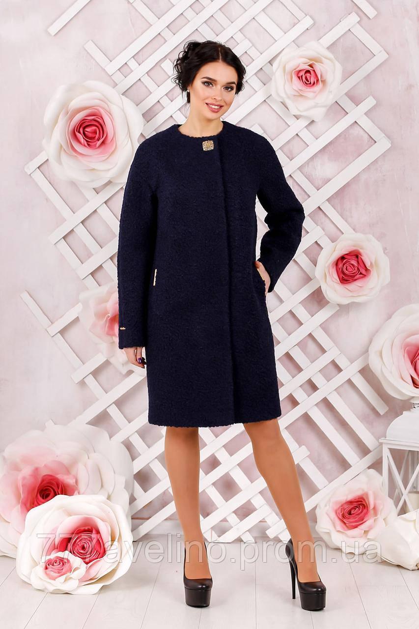 Пальто женское букле модное размеры с 44 по 66