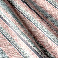 Декоративная ткань с принтом узор, тефлоновое покрытие