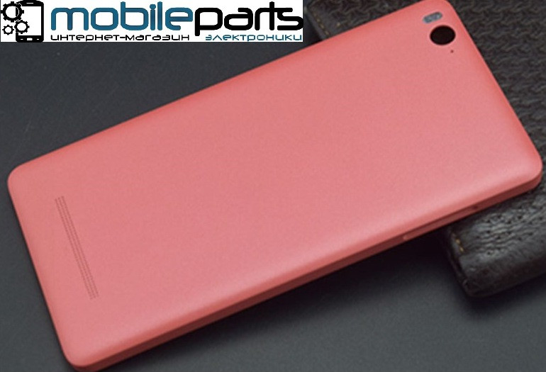 Оригинальная задняя панель (крышка) для Xiaomi Mi4c | Mi4i (Розовая)