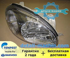 Фара права механічна Ланос (хромований відбивач) (пр-во TEMPEST) 020 0139 R6C Daewoo Lanos