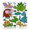 Пазлы «Древние животные», 9 элементов, Бомик