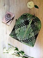 Крутой женский мини-рюкзак из эко-кожи под плетение
