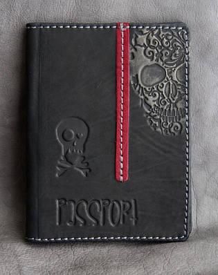 Обложка на паспорт кожаная Guk (4907)