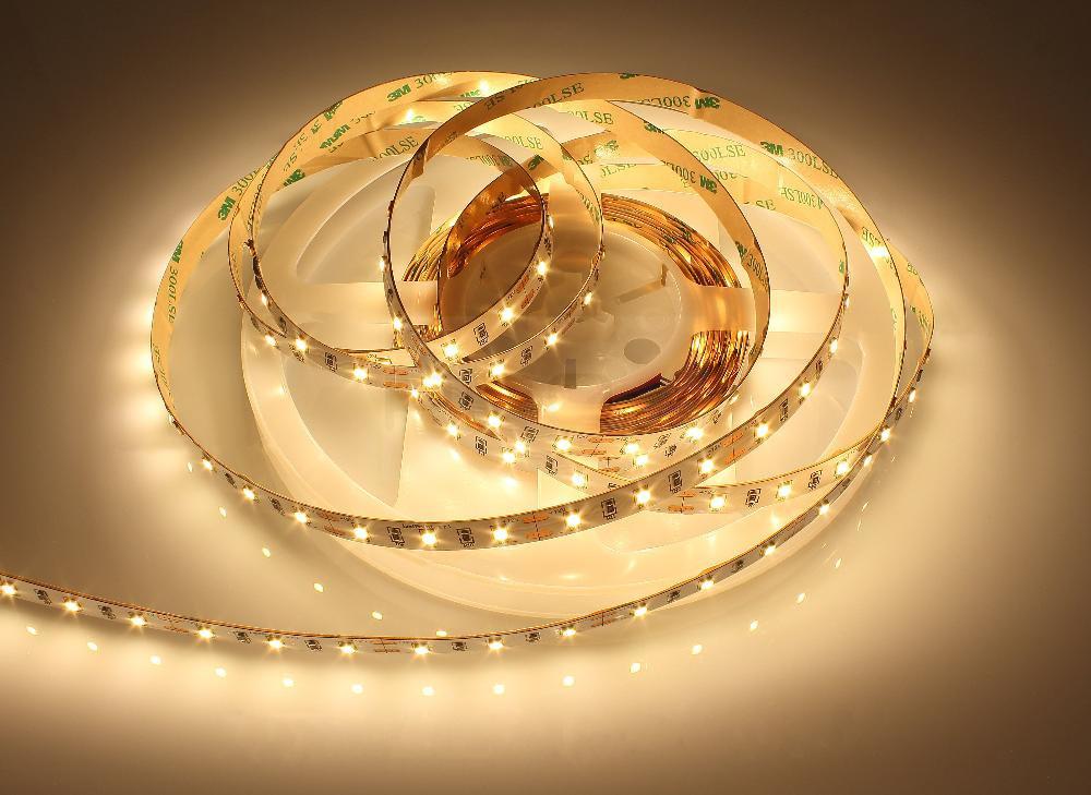 LED лента Prolum 12V SMD2835 60led/m 4,8W IP20 Теплый белый