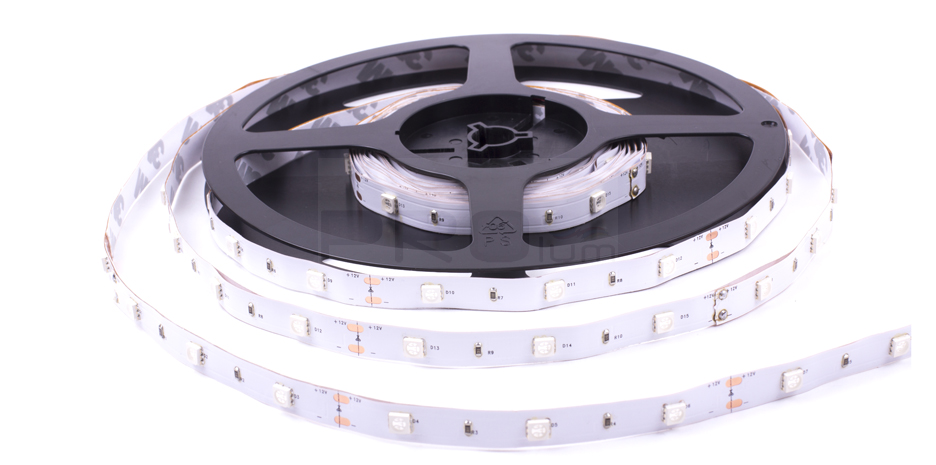 LED лента Prolum 12V SMD5050 60led/m 14,4W IP20 Белый
