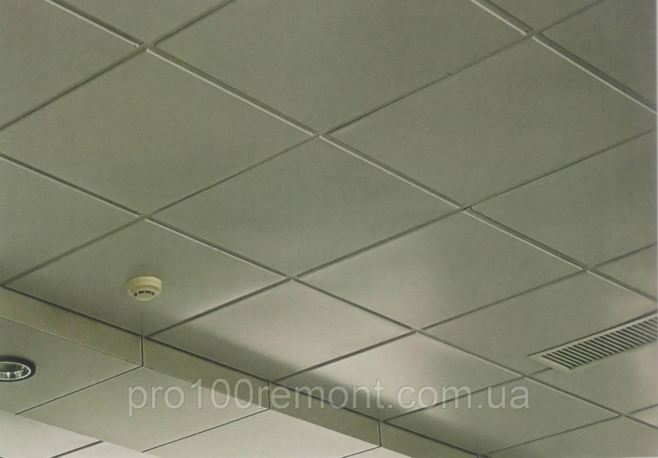 Кассетный плита армстронг 600х600мм белая без кромки
