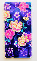 Чехол на Самсунг Galaxy A5 A500H приятный Силикон 0.5 мм со Стразами Цветы, фото 1