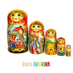 """Матрешка """"Украинская"""", Петриковская роспись"""