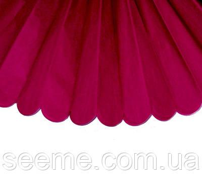 Бумажные помпоны из тишью «Cranberry», диаметр 25 см.