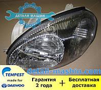 Фара левая механическая Ланос (хромированный отражатель) (пр-во TEMPEST) 020 0139 R5C Daewoo Lanos