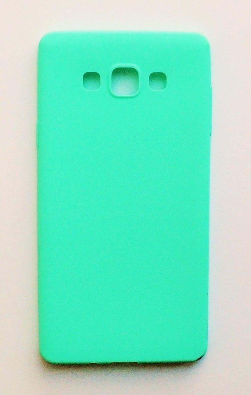 Чехол на Самсунг Galaxy A7 A700H / A700F Melody copy Силикон 0.5 мм Ментоловый