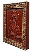 Пантелеймон Целитель. Резная икона из натурального дерева