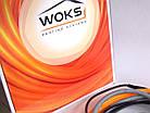Woks-10 - 53м (500 Вт) тонкий нагрівальний кабель двожильний екранований (Одескабель), фото 2