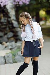 Шикарная юбка - шорты, декорировано бантом.