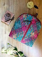 Стильный женский плетеный рюкзак из эко-кожи