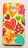 Чехол на Самсунг Galaxy J2 J200H Duos Cath Kidston стильный Пластик Сердечки