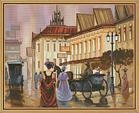 """Наборы для вышивания нитками на канве с фоновым рисунком """"Вечерний променад"""", 32*26см, СР3211"""
