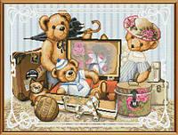 """Наборы для вышивания нитками на канве с фоновым рисунком """"Детские шалости"""", 40*30см, СР1184"""