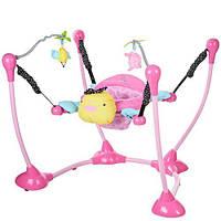 Прыгунок мягкое кресло, подвески 2шт, розовая уточка, DC201-1/BO102P