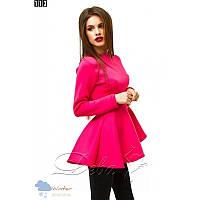 Кофточка - баска из неопрена №113 Размер:S, M - (42 44) двойной размер; Цвет:Розовый