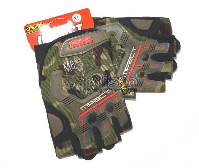 Рукавички тактик Mechanix MPACT (без пальців) мультикам