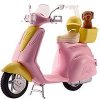 Barbie Мопед для Барби скутер Scooter with Puppy