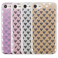 """Cияющий TPU чехол с сердечками для Apple iPhone 7 (4.7"""")"""