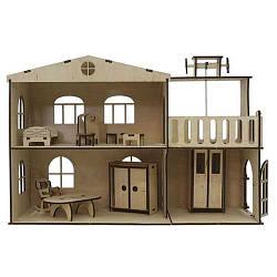 Кукольный домик с лифтом и комплектом мебели, Зірка
