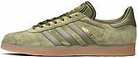 Мужские кроссовки Adidas Gazelle Olive Cargo Gum