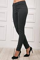 Молодежные женские брюки с принтом в мелкую точку, синие