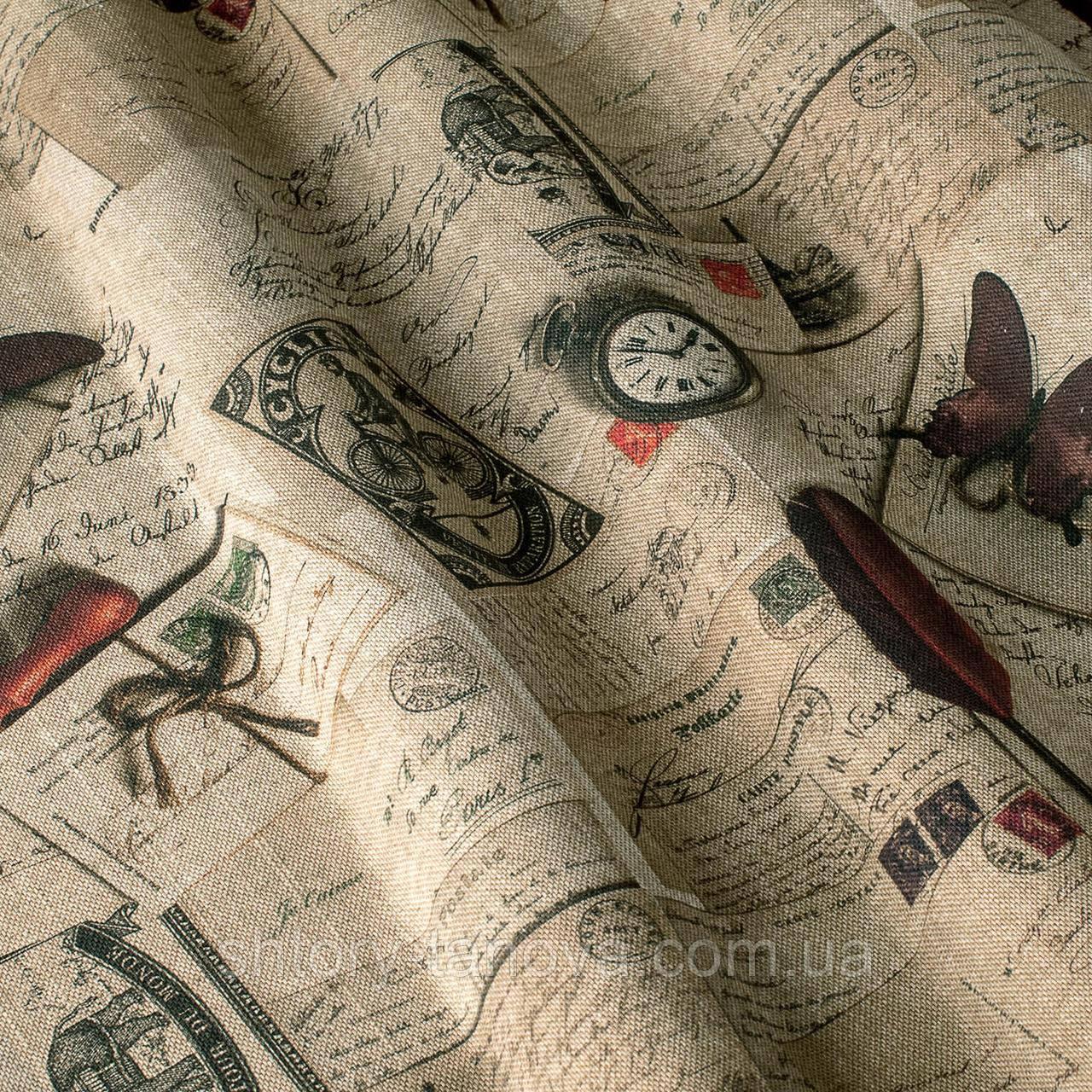 Декоративная ткань принт винтаж