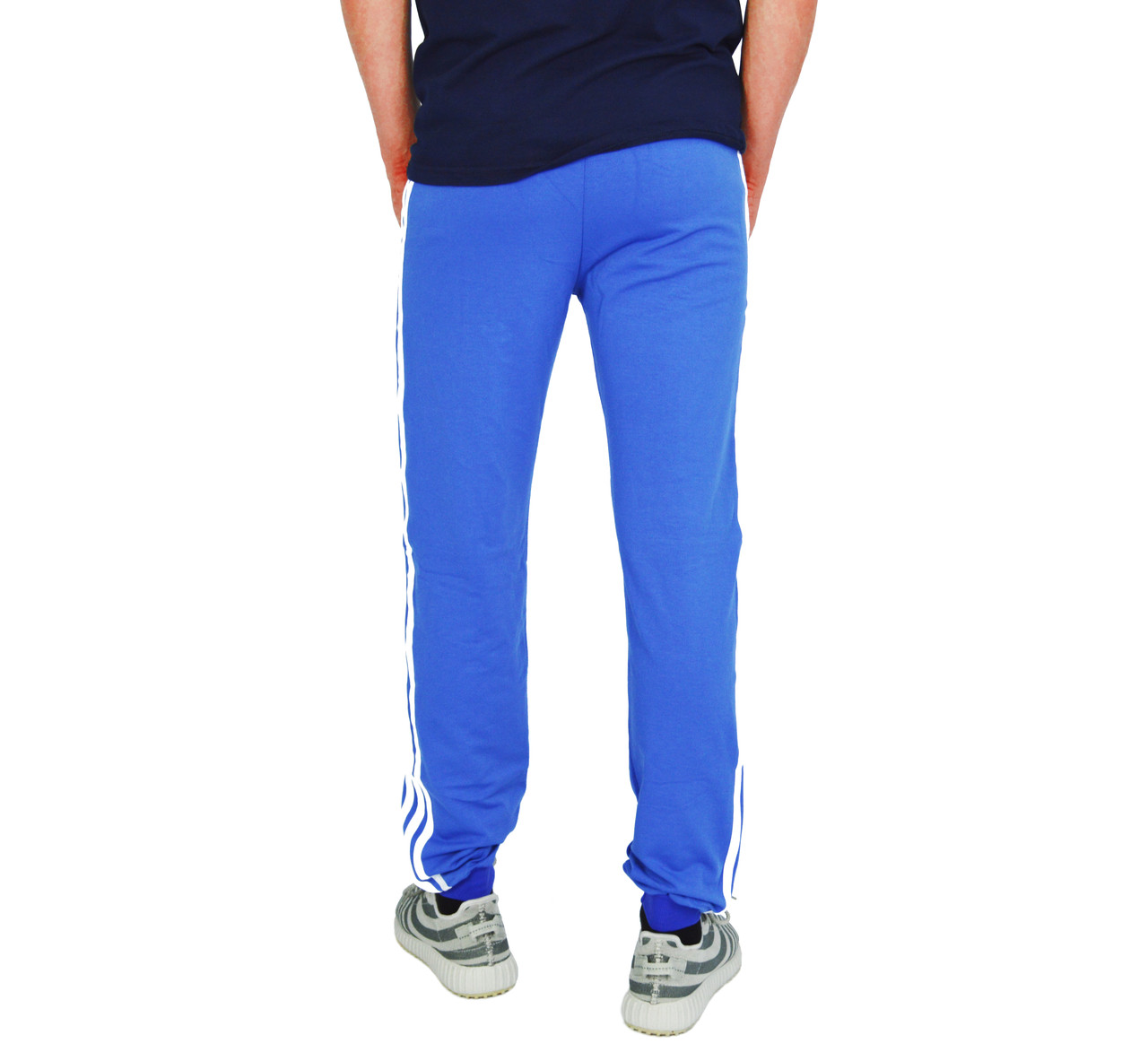 8bc72b56 ... Ярко-Синие мужские спортивные трикотажные штаны с манжетами ADIDAS ,  фото 4
