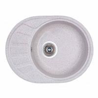 Кухонная мойка  из искусственного камня FOSTO 58x45 SGA-210 цвет белый  гранит