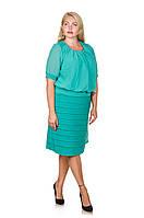 Женское платье большой размер  Ангелина мята 52-60