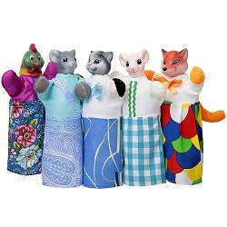 Кукольный театр «Колосок, Котик и Петушок» 5 персонажей, ЧудиСам