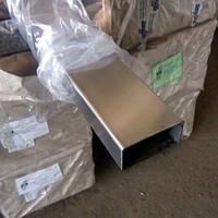 Труба профильная нержавеющая 40х10х2 мм AISI 304 нж аналог (08Х18Н10Т)